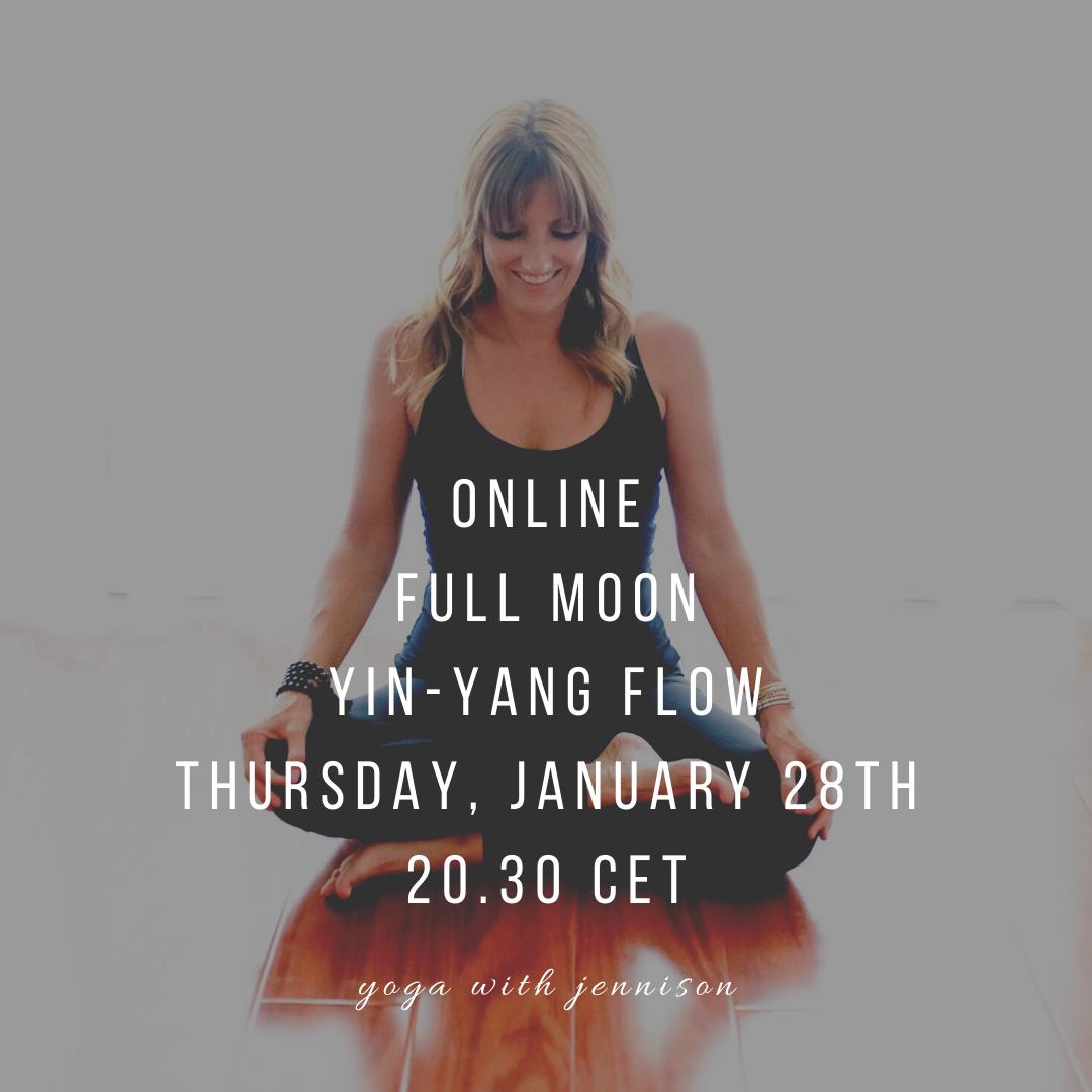 full moon yoga online